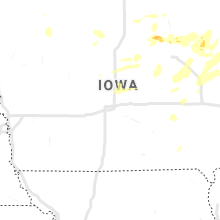 Regional Hail Map for Des Moines, IA - Wednesday, July 14, 2021