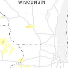 Regional Hail Map for Madison, WI - Wednesday, July 14, 2021