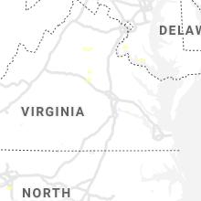 Regional Hail Map for Richmond, VA - Wednesday, July 14, 2021
