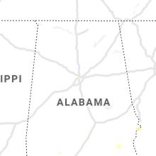 Regional Hail Map for Birmingham, AL - Thursday, July 15, 2021