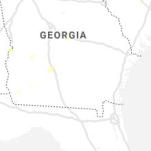 Regional Hail Map for Douglas, GA - Thursday, July 15, 2021