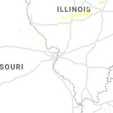 Regional Hail Map for Saint Louis, MO - Thursday, July 15, 2021