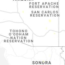 Regional Hail Map for Tucson, AZ - Thursday, July 15, 2021