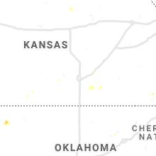 Regional Hail Map for Wichita, KS - Thursday, July 15, 2021