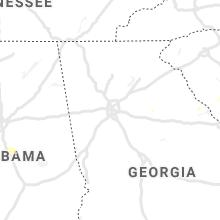 Regional Hail Map for Atlanta, GA - Friday, July 16, 2021