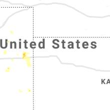 Regional Hail Map for Colby, KS - Friday, July 16, 2021