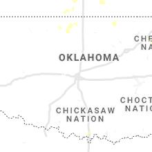 Regional Hail Map for Oklahoma City, OK - Friday, July 16, 2021