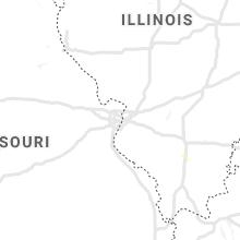 Regional Hail Map for Saint Louis, MO - Friday, July 16, 2021