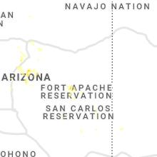 Regional Hail Map for Show Low, AZ - Friday, July 16, 2021