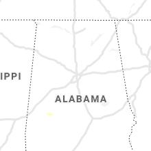 Regional Hail Map for Birmingham, AL - Saturday, July 17, 2021