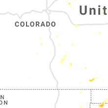 Regional Hail Map for Pueblo, CO - Saturday, July 17, 2021