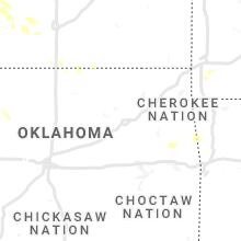 Regional Hail Map for Tulsa, OK - Saturday, July 17, 2021