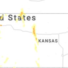 Regional Hail Map for Hays, KS - Sunday, July 18, 2021