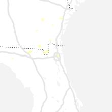 Regional Hail Map for Jacksonville, FL - Sunday, July 18, 2021