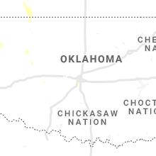 Regional Hail Map for Oklahoma City, OK - Sunday, July 18, 2021