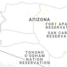 Regional Hail Map for Phoenix, AZ - Sunday, July 18, 2021