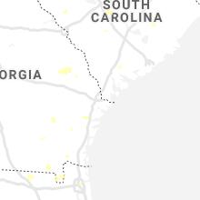 Regional Hail Map for Savannah, GA - Sunday, July 18, 2021