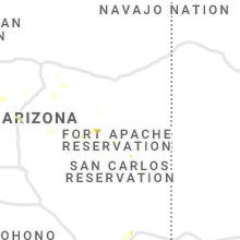Regional Hail Map for Show Low, AZ - Sunday, July 18, 2021