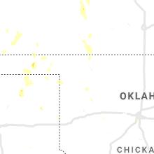 Regional Hail Map for Woodward, OK - Sunday, July 18, 2021
