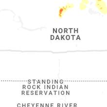 Regional Hail Map for Bismarck, ND - Monday, July 19, 2021