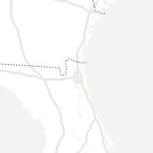 Regional Hail Map for Jacksonville, FL - Monday, July 19, 2021