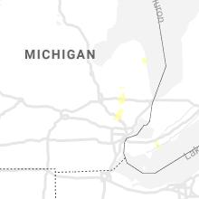 Regional Hail Map for Flint, MI - Tuesday, July 20, 2021