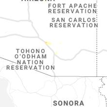 Regional Hail Map for Tucson, AZ - Tuesday, July 20, 2021