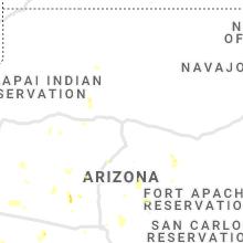 Regional Hail Map for Flagstaff, AZ - Wednesday, July 21, 2021