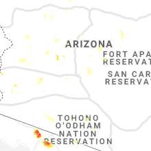 Regional Hail Map for Phoenix, AZ - Wednesday, July 21, 2021