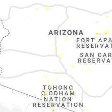 Regional Hail Map for Phoenix, AZ - Thursday, July 22, 2021