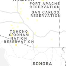 Regional Hail Map for Tucson, AZ - Thursday, July 22, 2021