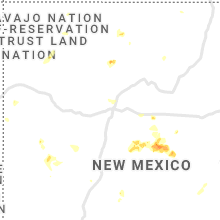 Regional Hail Map for Albuquerque, NM - Friday, July 23, 2021