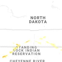 Regional Hail Map for Bismarck, ND - Friday, July 23, 2021