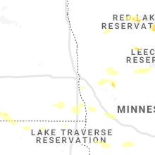 Regional Hail Map for Fargo, ND - Friday, July 23, 2021