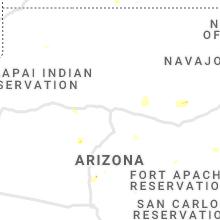 Regional Hail Map for Flagstaff, AZ - Friday, July 23, 2021