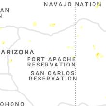 Regional Hail Map for Show Low, AZ - Friday, July 23, 2021
