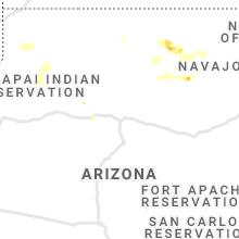 Regional Hail Map for Flagstaff, AZ - Saturday, July 24, 2021