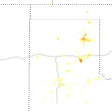 Regional Hail Map for Amarillo, TX - Sunday, July 25, 2021
