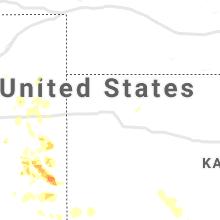 Regional Hail Map for Colby, KS - Sunday, July 25, 2021