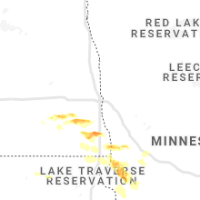 Regional Hail Map for Fargo, ND - Sunday, July 25, 2021