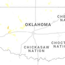Regional Hail Map for Oklahoma City, OK - Sunday, July 25, 2021