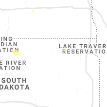 Regional Hail Map for Aberdeen, SD - Monday, July 26, 2021