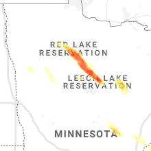 Regional Hail Map for Bemidji, MN - Monday, July 26, 2021