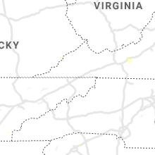 Regional Hail Map for Bristol, TN - Monday, July 26, 2021