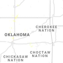 Regional Hail Map for Tulsa, OK - Monday, July 26, 2021