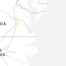 Regional Hail Map for Virginia Beach, VA - Monday, July 26, 2021