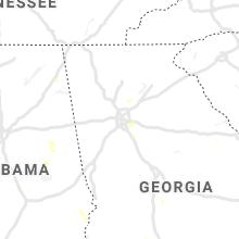 Regional Hail Map for Atlanta, GA - Tuesday, July 27, 2021