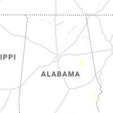 Regional Hail Map for Birmingham, AL - Tuesday, July 27, 2021