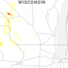 Regional Hail Map for Madison, WI - Tuesday, July 27, 2021