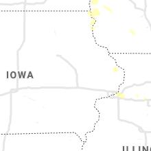 Regional Hail Map for Cedar Rapids, IA - Wednesday, July 28, 2021
